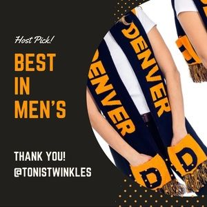 UNISEX DENVER Football Hoodie SCARF with pockets